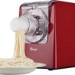 Sirge PATAMAGIC Machine pâtes automatique pour faire des pâtes fraîches à la maison 300 Watt - 14 types de pâtes + Ravioli -